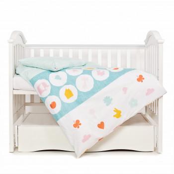 Сменная постель 3 эл Twins Eco Line 3090-E-021, Animals mint, мятный