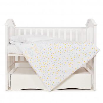 Сменная постель 3 эл Twins Eco Line 3090-E-022, Bunnies mint, белый/мятный