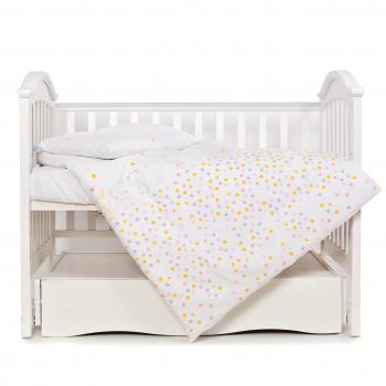 Сменная постель 3 эл Twins Eco Line 3090-E-023, Bunnies pink, белый/розовый