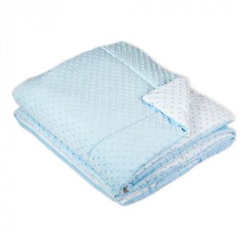 Одеяло в кроватку Twins Minky 120x160 1601-189-04, blue, голубой