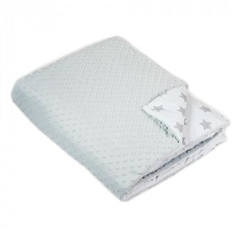 Одеяло в кроватку Twins Minky 120x160 1601-189-10, grey, серый