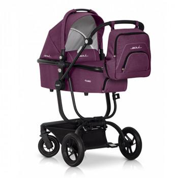 Коляска 2 в 1 EasyGo Soul (без сумки) purple, розовый