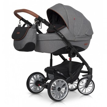 Коляска 2 в 1 Euro-Cart Delta anthracite, графит