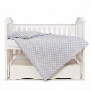 Сменная постель 3 эл Twins Premium Glamour 3028-PG-009, серый / фиолет, серый / фиолетовый