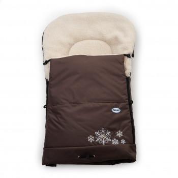 Конверт к санкам Twins Снежинка 9012-SS-07 brown, коричневый