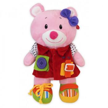 Плюшевая игрушка Baby Mix TE-9823-25 Мишка TE-9823-25 C, pink, розовый
