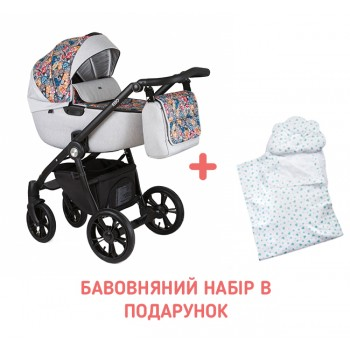 Коляска 2 в 1 Roan Esso Grey Folk, сірий