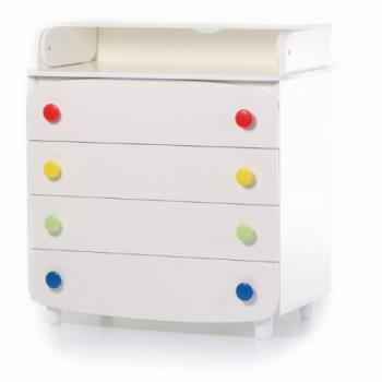 Комод-пеленатор Верес 900 33.4.1.2.17, бело / серый, белый / серый