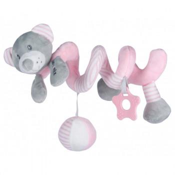 Плюшевая спираль Baby Mix STK-19391B Мишка STK-19391 PB, pink, розовый