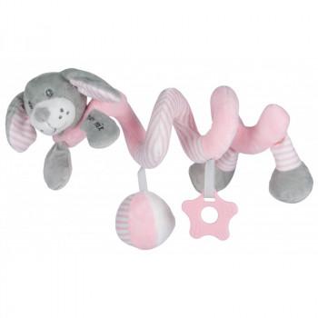 Плюшевая спираль Baby Mix STK-19391D Собачка STK-19391 PD, pink, розовый