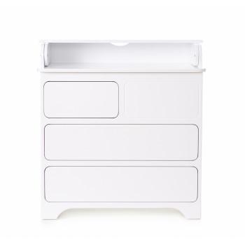 Комод-пеленатор Верес Тач-Лач 33.4.35.1.06, белый, белый