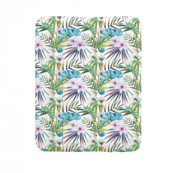 Пеленальный матрас Cebababy 50x70 Flora & Fauna W-143-099-542, Camaleon Blanco, белый / зеленый