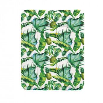 Пеленальный матрас Cebababy 50x70 Flora & Fauna W-143-099-545, Pina, белый / зеленый