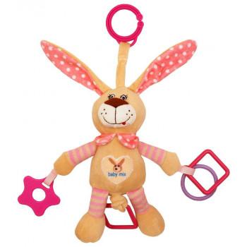Плюшевая подвеска с вибро Baby Mix STK-17504 Кролик STK-17504P, pink, розовый
