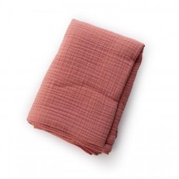 Пеленка Twins муслиновая 110х75 моно 1610-TPM-24, powder pink, розовый дым