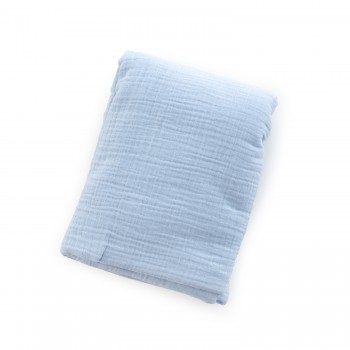 Пеленка Twins муслиновая 110х75 моно 1610-TPM-04 blue, голубой