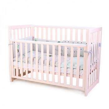 Кроватка Верес ЛД13 без колес без ящика съемная спица 13.1.1.20.30, розовый, розовый
