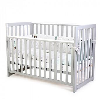 Кроватка Верес ЛД13 без колес без ящика съемная спица 13.1.1.20.32, серый, серый