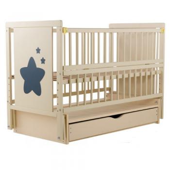 Кровать Дубок Звездочка с ящиком слоновая кость, бежевый