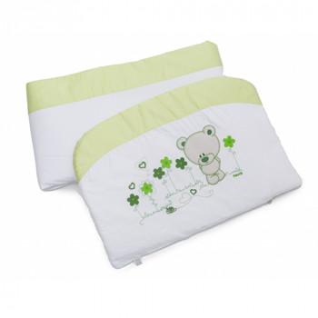 Бампер Twins Evo Лето сатин / аппликация 2073-A-018, white / green, белый / зеленый