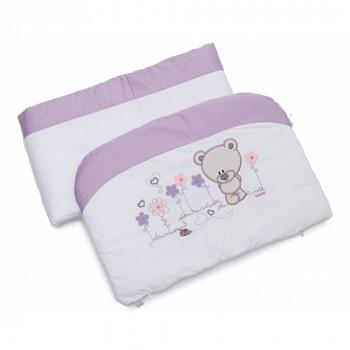 Бампер Twins Evo Лето сатин / аппликация 2073-A-019, white / violet, белый / фиолетовый