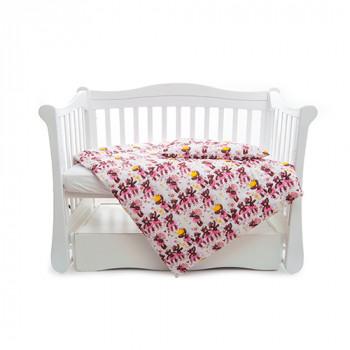 Сменная постель 3 эл Twins Comfort line 3054-C-060, Балеринки, белый / розовый