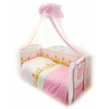 Постельный комплект 8 эл Twins Standard Basic 4050-CB-026, Утята розовые, розовый