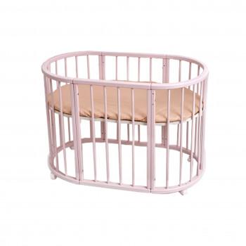 Кровать Twins Cozy овальное 170х70 круглая рейка L100-CK-02 слоновая кость, бежевый