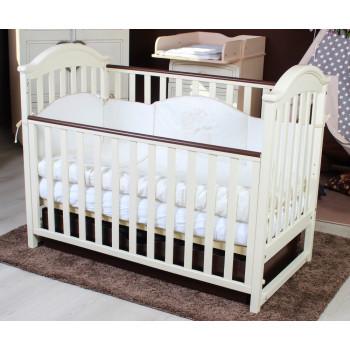 Кровать Twins iLove L100-L-27 слоновая кость / орех, беж / коричневый