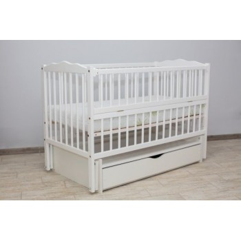 Кровать Дубок Радуга с ящиком белый, белый