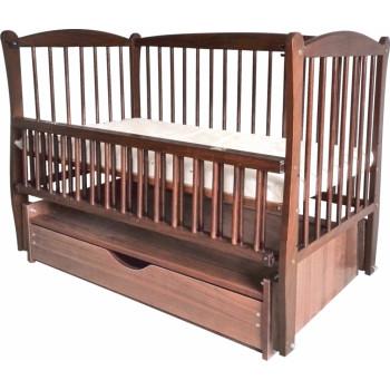 Кровать Дубок Радуга с ящиком орех, коричневый