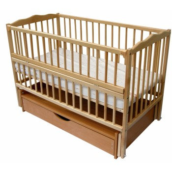 Кровать Дубок Радуга с ящиком натуральный, бежевый