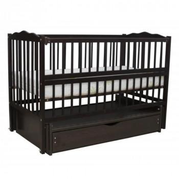 Кровать Дубок Радуга с ящиком венге, черный