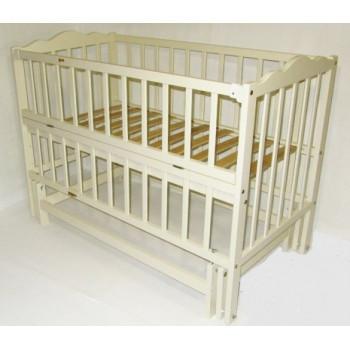 Кровать Дубок Радуга / без ящика слоновая кость, бежевый