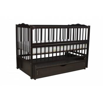 Кровать Дубок Радуга / без ящика венге, черный