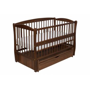 Кровать Дубок Элит с резьбой орех, коричневый