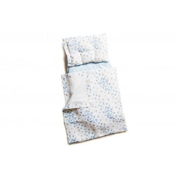 Набор в коляску Twins муслиновый (плед, подушка, наматрасник на рез) 1499-TM-20-04, Butterfly, голубой