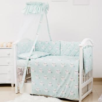 Постельный комплект 8 эл Twins Premium Glamour 4029-TGM-014, Moon mint, мятный
