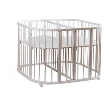 Кровать Twins для двойни 110х110 L100-TW-01, белый, белый