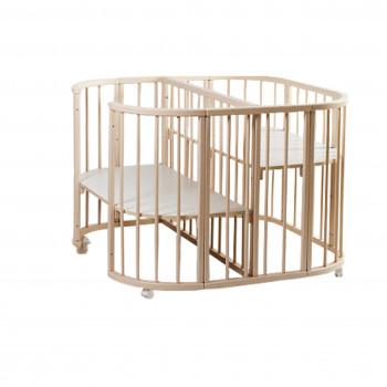 Кровать Twins для двойни 110х110 L100-TW-02, слоновая кость, бежевый