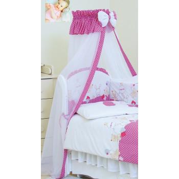Балдахин Twins Comfort New 1051-C-119 Горошки розовые, розовый