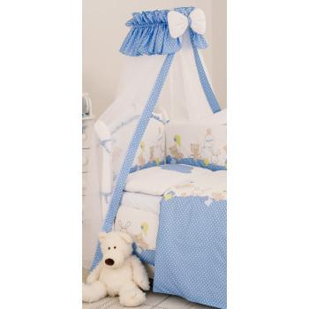Балдахин Twins Comfort New 1051-C-120, Горошки голубые, голубой