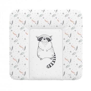 Пеленальный матрас Cebababy 75x72 Retro Autumn W-144-000-636, Raccoon, белый