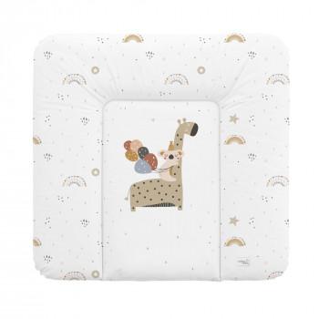 Пеленальный матрас Cebababy 75x72 Retro Autumn W-144-000-637, Giraffe, белый