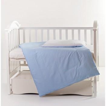 Сменная постель 3 эл Twins Evo Лето 3068-A-016, white / blue, голубой