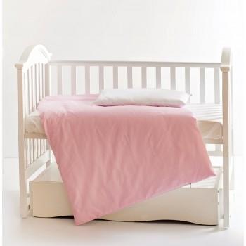 Сменная постель 3 эл Twins Evo Лето 3068-A-017, white / pink, розовый