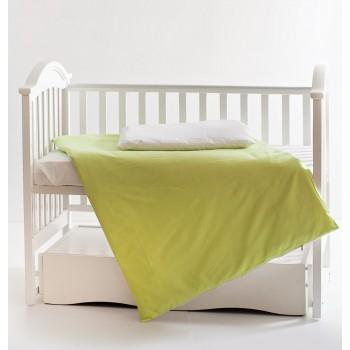 Сменная постель 3 эл Twins Evo Лето 3068-A-018, white / green, зеленый