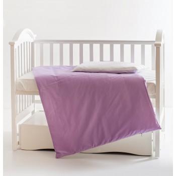 Сменная постель 3 эл Twins Evo Лето 3068-A-019, white / violet, фиолетовый