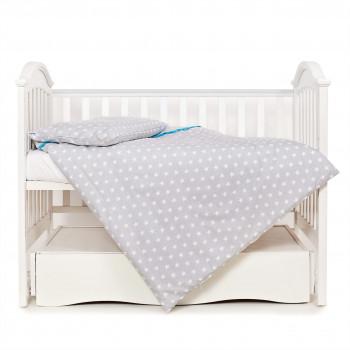 Сменная постель 3 эл Twins Premium Glamour 3028-PG-008, серый / бирюза, серый / мятный
