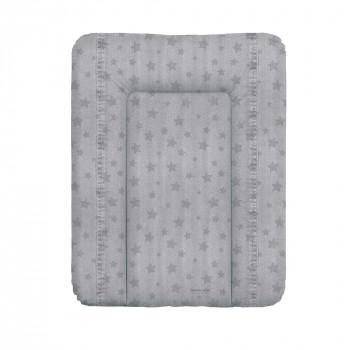 Пеленальный матрас Cebababy 50x70 Denim Style W-143-119-588, Stars grey, серый